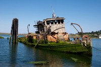 Ship Wrecked in Gold Beach, Oregon